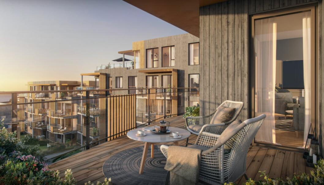 STOR UTBYGGING: 400 boliger skal bygges på den 40 mål store tomten på Vikhammerstrand utenfor Trondheim.
