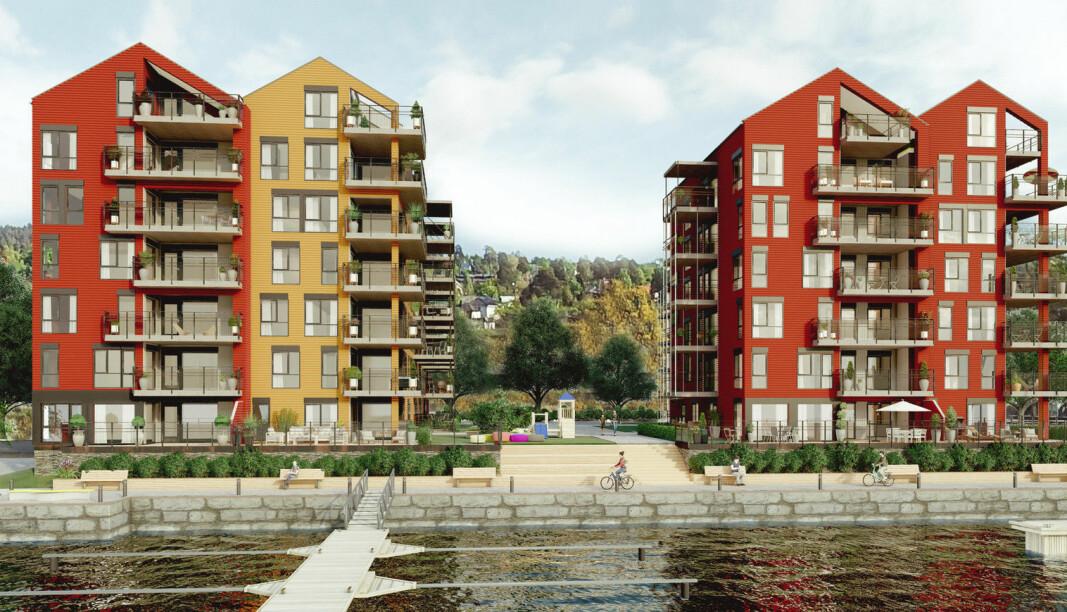 POPULÆRT: Godt salg vitner om at mange vil bo i leilighet på bryggekanten.