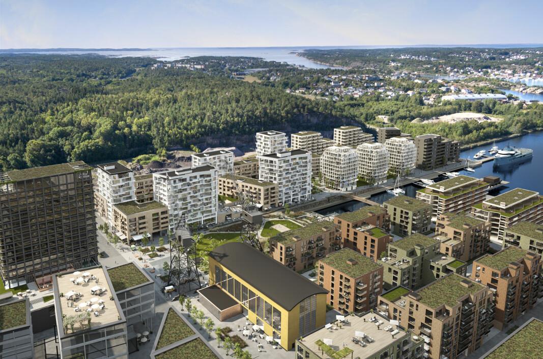SVÆRT: Den gamle industritomta skal bli bo- og arbeidssted for tusenvis av mennesker.