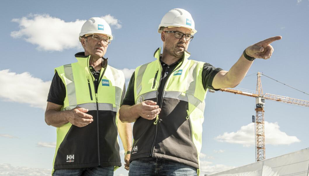 Vidar Jacklin Teknisk Direktør i BMI Norge og Rune Børli, salgssjef i BMI Norge