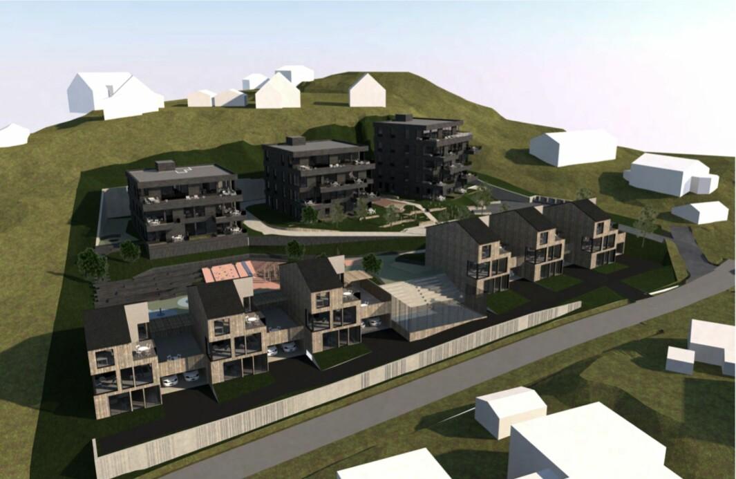 BOLIGOMRÅDE: Planområdet ligger i et etablert boligområde som grenser til sentrumsbebyggelsen med næring og offentlige formål.