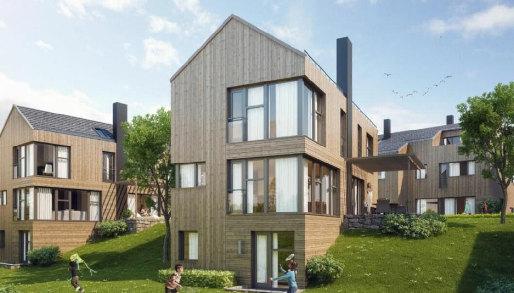 SORIA MORIA: Dette boligprosjektet på Voksenkollen har vært utfordrende for Bonum. Eiendomsselskapet har gått på to strake tap mot entreprenøren som stod for byggingen. (Ill. Bonum)