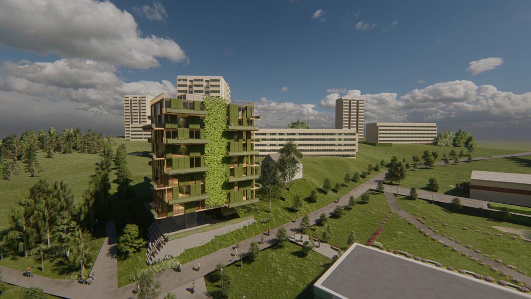 FLEKSIBELT: Daimyo Eiendom vil bygge 105 kvadratmeter leiligheter med to utleieenheter.