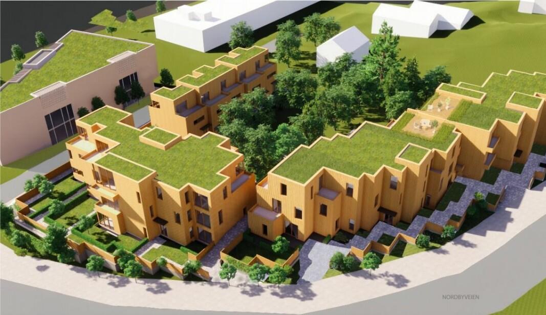 KOMBI: Planene går ut på å bygge boliger og næringsbygg på de to tomtene.