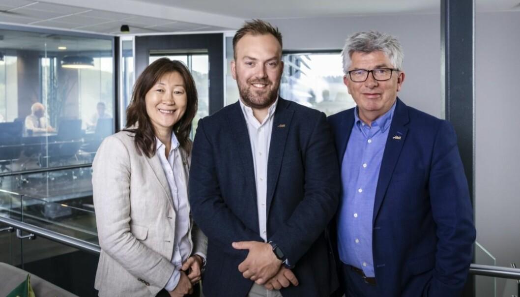 STERKT: Finansdirektør Jane K. Gravbråten, investeringssjef Hallvard Thoresen og adm. direktør Paal Haakensen leverer solide resultater.