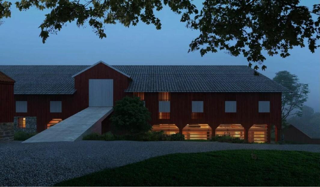 19 BOLIGER: I søknaden skisseres det 19 boliger i det nye bygget.