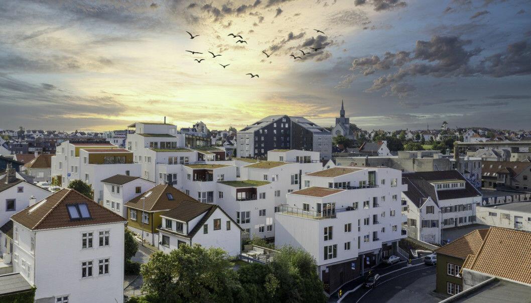 ATTRAKTIVE BOLIGER Solon Sørvests prosjekt Vindmøllebakken vant Statens pris for byggkvalitet i 2020. DNB Markets mener Solon kan være en attraktiv oppkjøpskandidat.