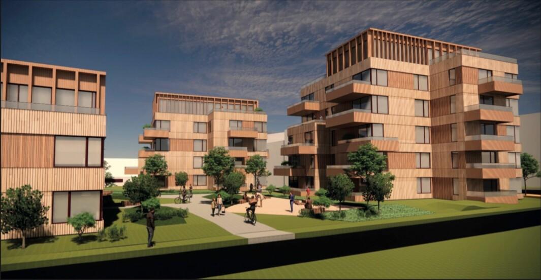 38 LEILIGHETER: I planforslaget skisseres det 38 leiligheter.