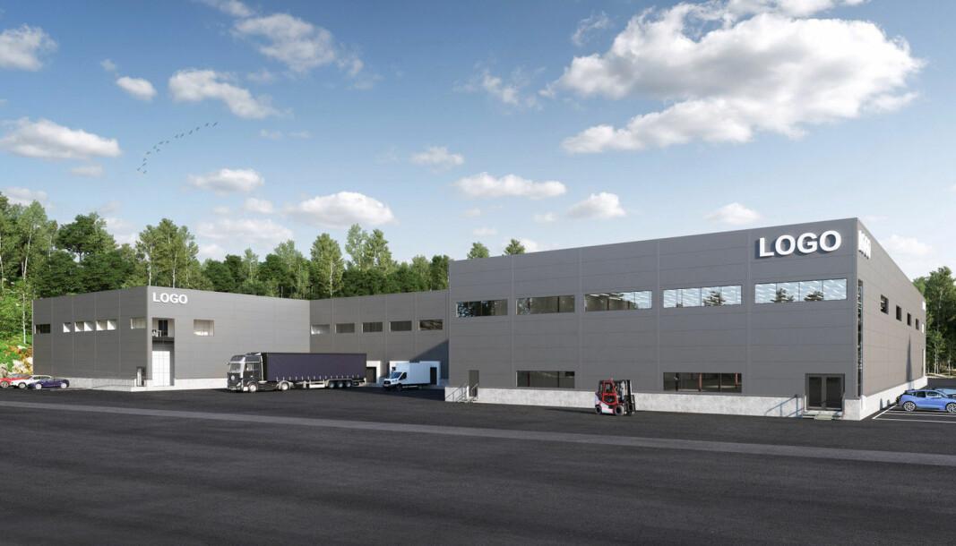 NYTT: Det 6.000 kvadratmeter store nybygget skal seksjoneres i to