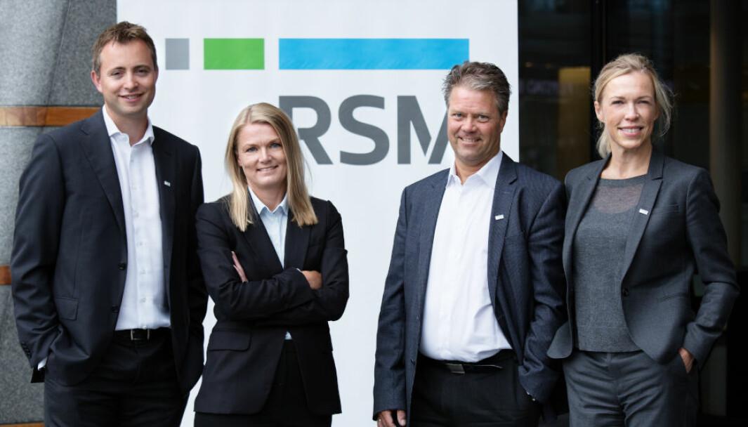 VEDLIKEHOLD VS. PÅKOSTNING: F.v. Morten H. Christophersen, Synne Bjotveit, Johan K. Engelschiøn og Marianne Brockmann Bugge, alle advokater og partnere i RSM Advokatfirma.