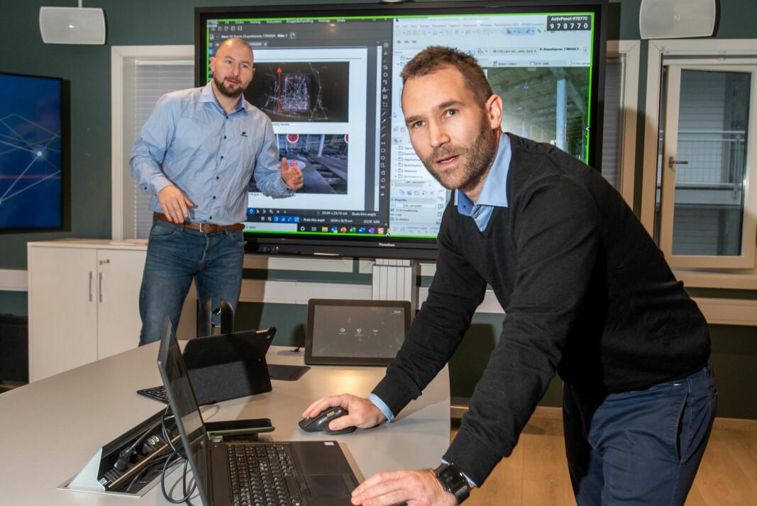 DIGITAL: Ivar Andersen og Mats Johansson underviser i digital kompetanse.