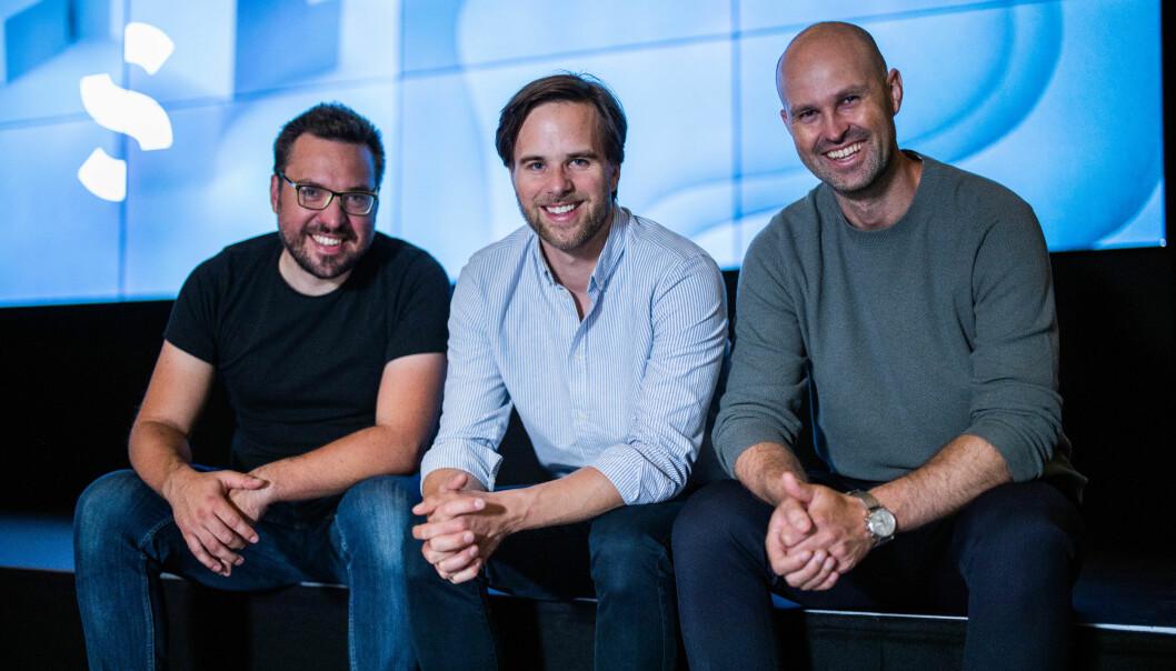 Gründerne: Fra venstre; Carl Christensen (CTO), Håvard Haukeland (CEO) og Anders Kvåle (arbeidende styreformann).