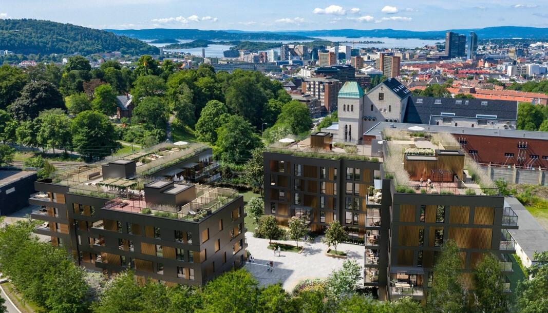 HØYT: Dette er det dyreste boligprosjektet i området, etter kvadratmeterprisen.