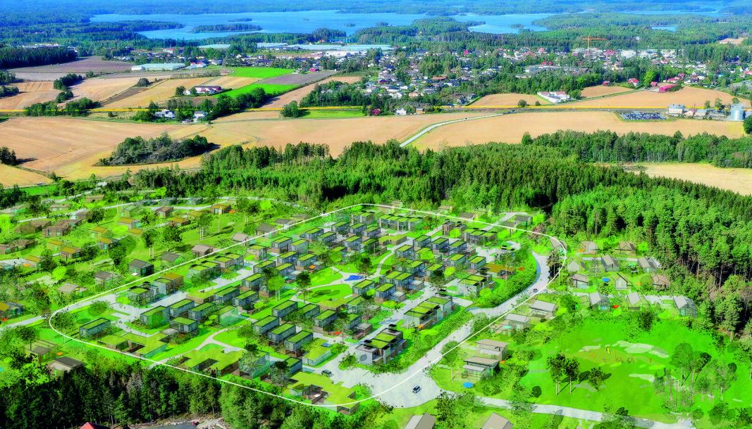 STØRST: Dette boligprosjektet blir kommunens desidert største.