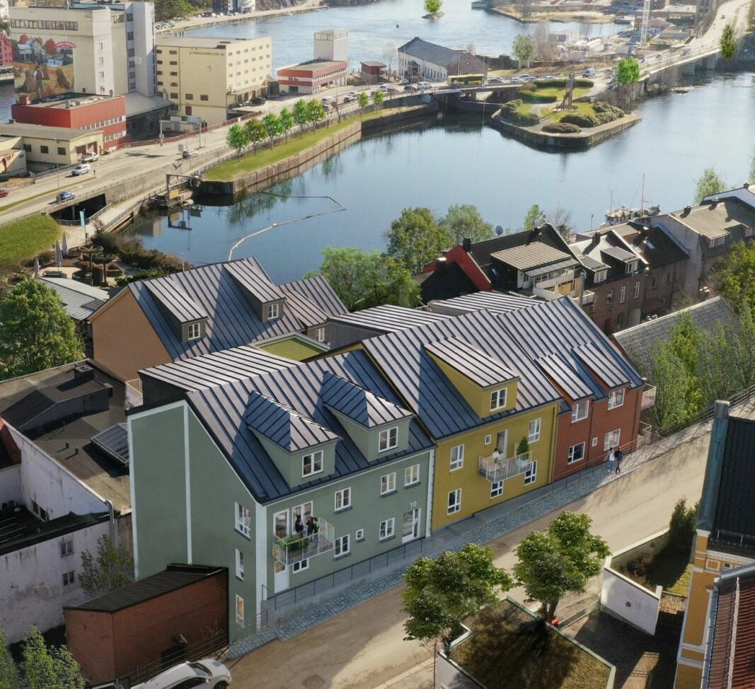 BOLIGER: Den nye bygården får 32 leiligheter.