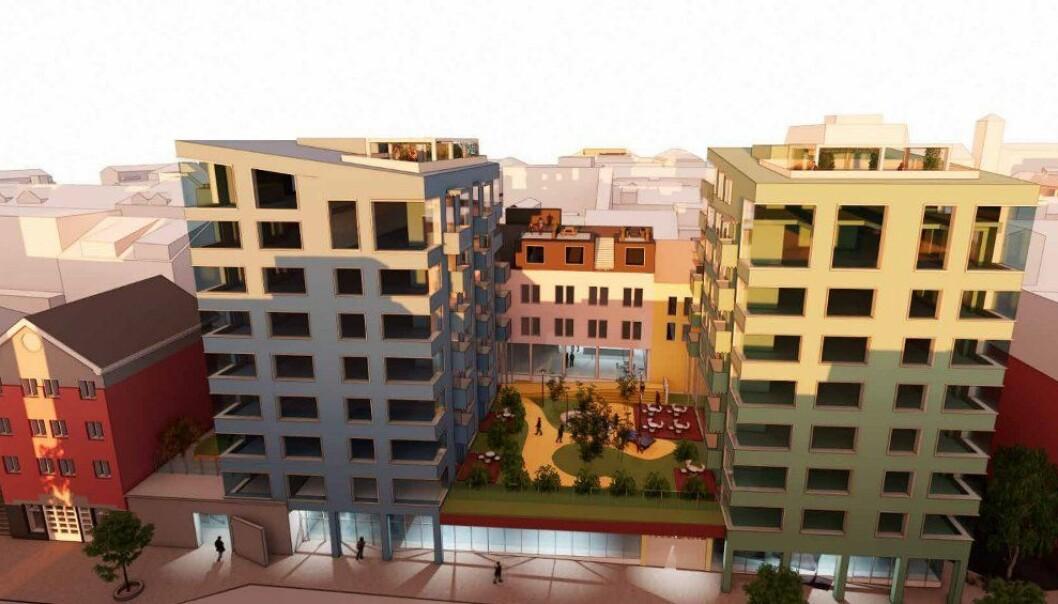 URBANT: Prosjektet i Storgata blir for folk som liker å bo i sentrum.