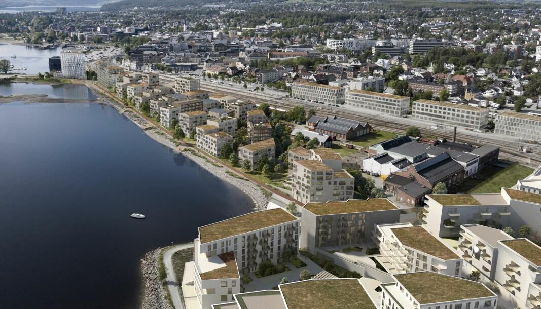 BYDEL: Byen blir ikke til å kjenne igjen når strandsonen er ferdig utviklet.