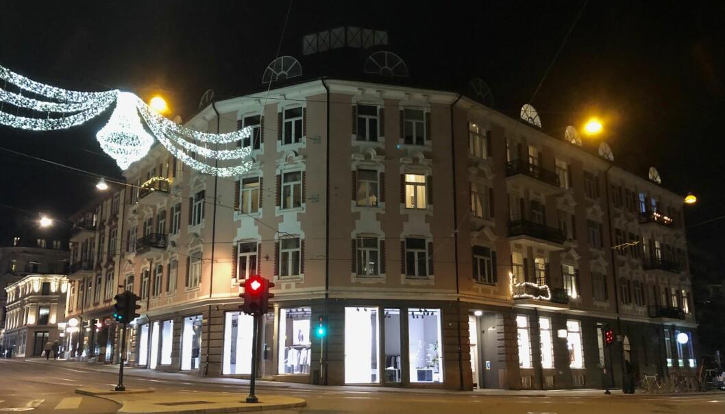 TIL SALGS: Deler av Hegdehaugveien 23 er blant eiendommene som er til salgs-