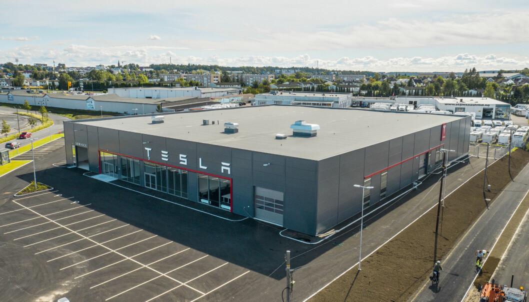 NYTT BYGG: Tesla-bygget er helt nytt og har et areal på 3462 kvadratmeter.
