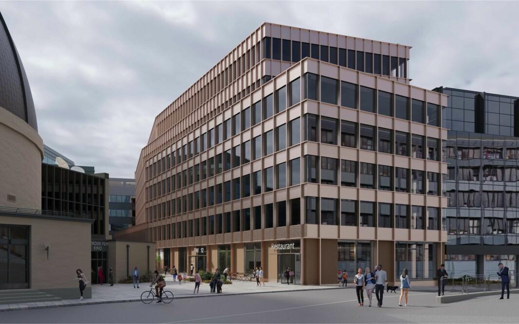 OPPGRADERING: Bygget skal bidra til en estetisk oppgradering mot Fridtjof Nansens vei og Colosseum kino.
