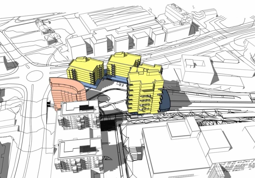 18.500 KVM: Planforslaget rommer et bruksareal på 18.500 kvadratmeter.