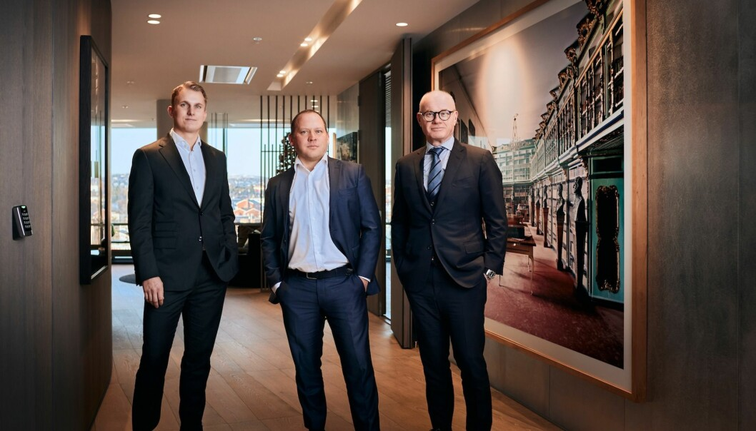 SATSER: Bård Bjølgerud (th) har hentet inn Arnstein Rød (midten) og Viktor Myhre til syndikeringssatsingen.