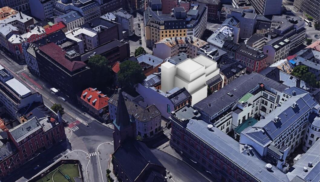 SAMARBEID: Over tilførte areal for skolen foreslås studentleiligheter i samarbeid med Oslo Met.