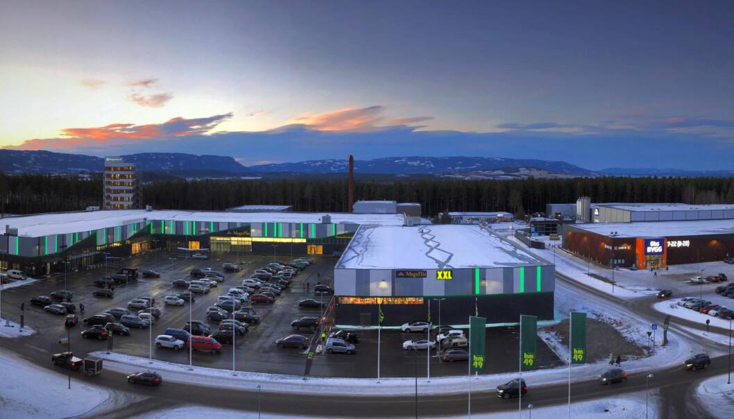 VOKSER: I Hvervenmoen Næringspark åpnet selskapets nyeste handelsbygg i februar, med XXL som førstemann inn.