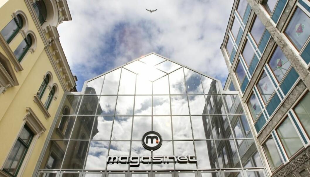 HOTELL: Her jobber eierne for å bygge hotell i kjøpesenteret.