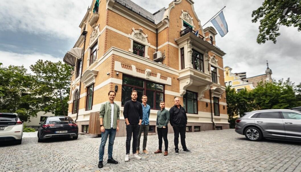 VIRDI: Fra venstre: Michael Wiik, Håvard Heggem von Krogh, Sindre Sangnes, Aslak Bergersen, og Fredrik Engh.