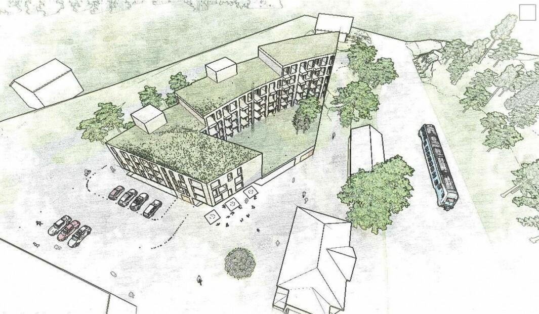 BYMESSIG UTVIKLING: Formålet er å underbygge den overordene planens ambisjon om helhetlig, bymessig utvikling av Stabekk sentrum.