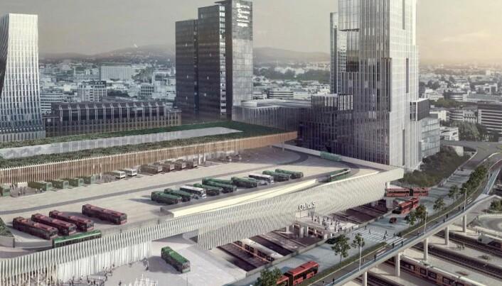 Forventer at den foreslåtte bussterminalen over Oslo S fjernes fra kommuneplanen