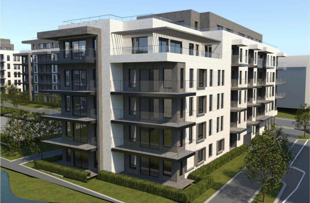 134 LEILIGHETER: I tillegg til 9 rekkehus etableres det 134 leiligheter og 2 mindre næringslokaler.