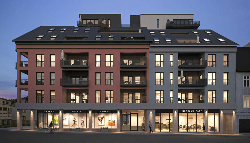 NYTT: Neste sommer står Dokkenkvartalet ferdig, med åtte etasjer midt i byen.