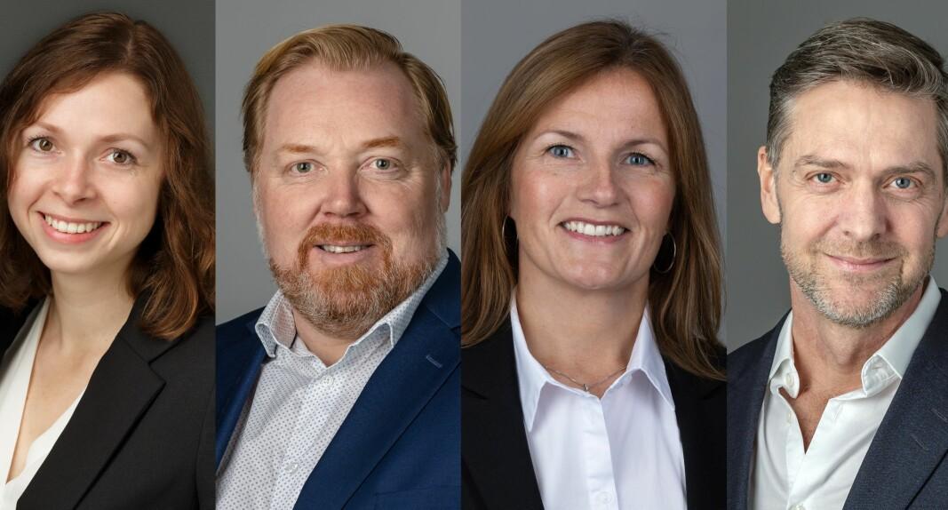 NYE: Ragnhild Forslund, Kurt Eirik Restad, Line Bjerck Ruud og Johan Jørgen Holst.