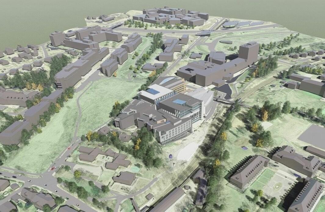 PÅBYGG: Oslo Tech vil øke arealet ved å bygge på dagens bebyggelse i 4 etasjer med 1-8 etasjer.