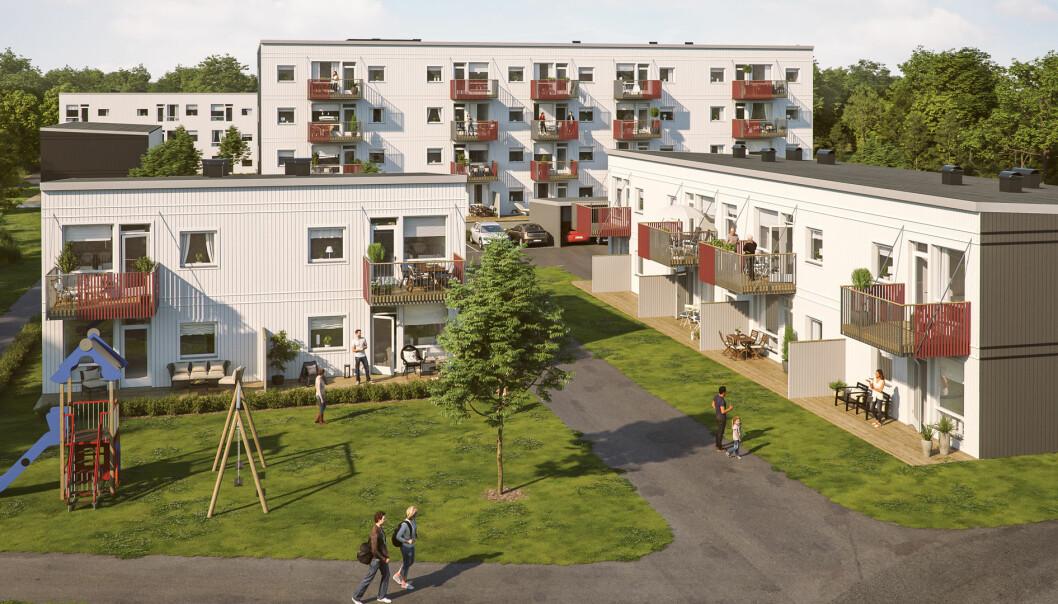 FØRST: Dette er de første boligtypene i det store utbyggingsomrpdet.