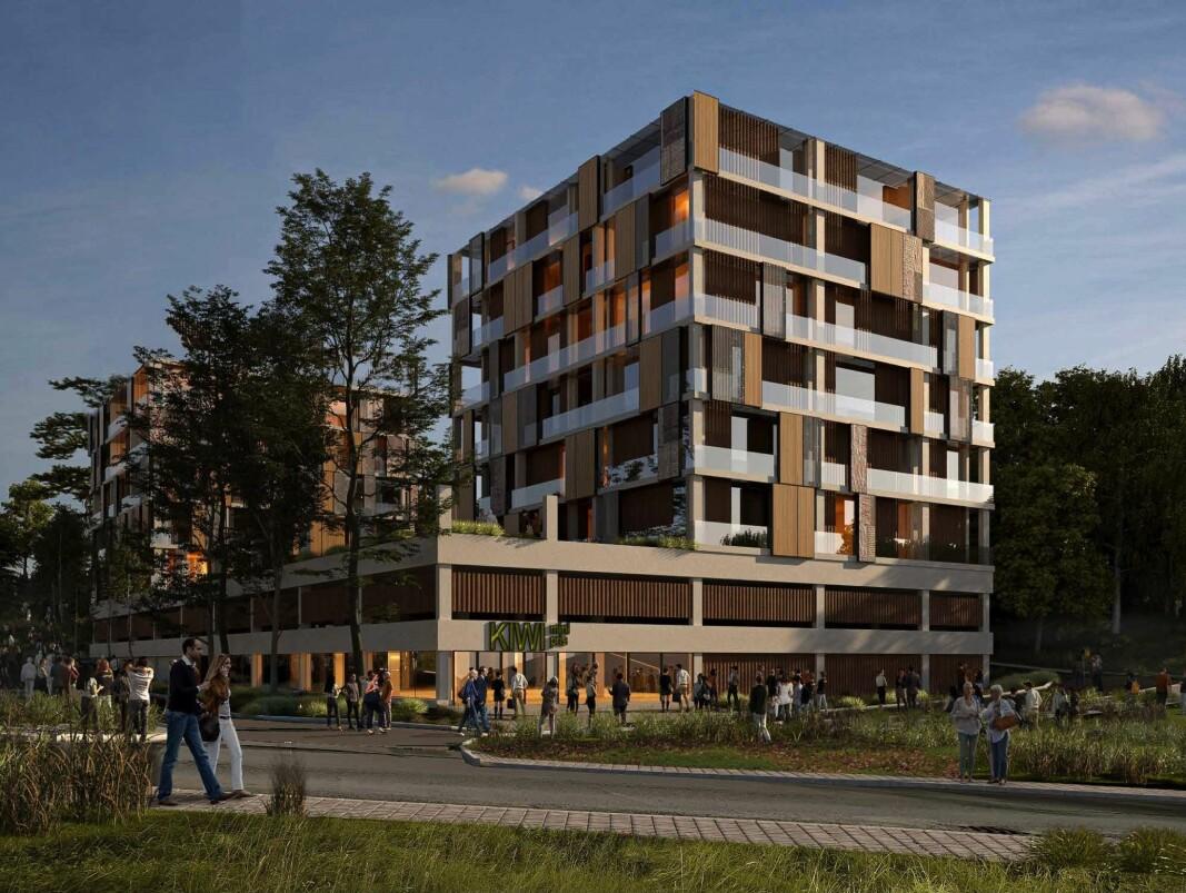 STASJONSNÆRT: Planområdet ligger 300 meter fra Bogerud Stasjon og i umiddelbar nærhet til Østmarka.