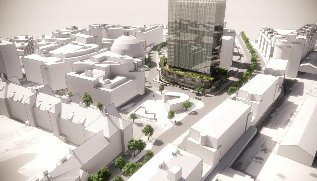 LANDEMERKE: Et påbygg på tre etasjer «vil bidra til å styrke virkningen av bygningen som landemerke og symbolbygg».