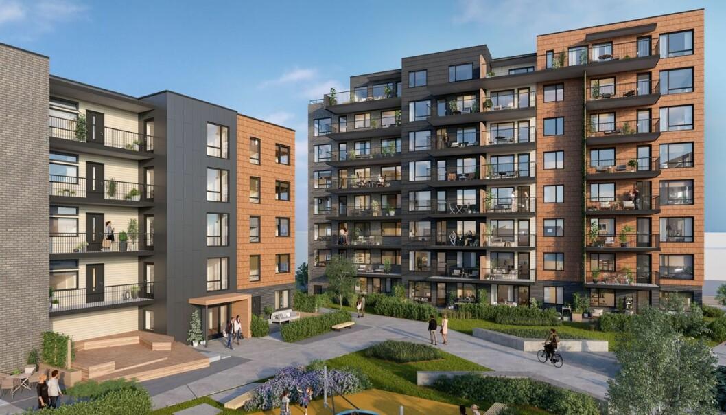 STORT: Skulpturen med 220 leiligheter er et av selskapets prosjekter.