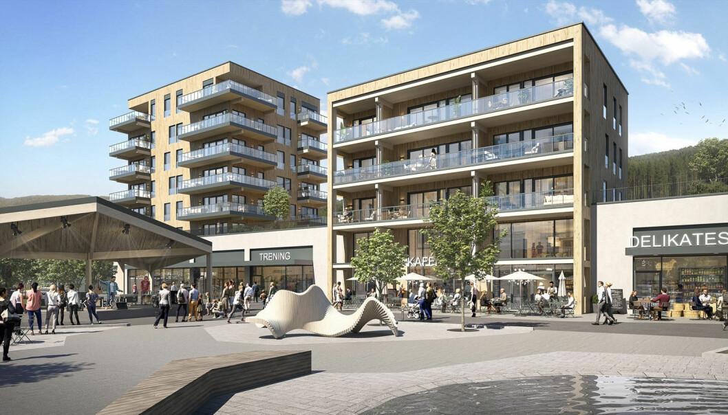 TORG: Sagparken handler om mye mer enn bare boliger i bygdas nye sentrum.