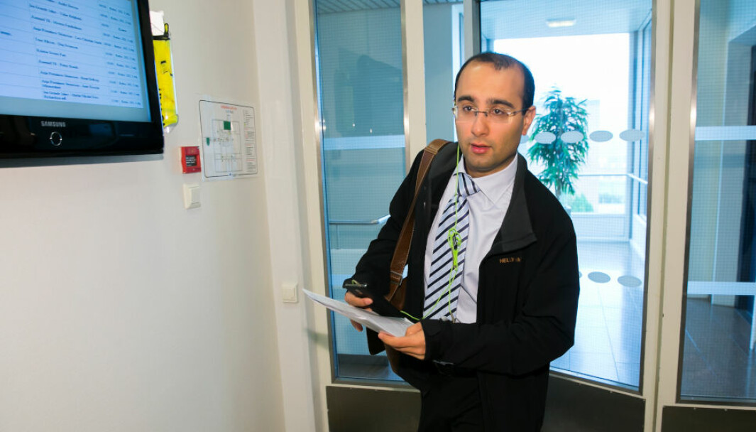 FORSVARTE SEG MOT ERSTATNINGSKRAV: Eks-advokat Amir Mirmotahari. (Foto: Heiko Junge / NTB)