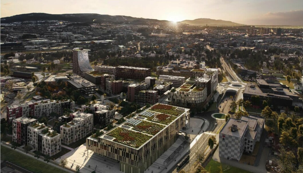 70 MÅL: Det 70 mål store planområdet har en sentral beliggenhet i bydelen, med umiddelbar nærhet til Leangen senterområde og Sirkus Shopping.