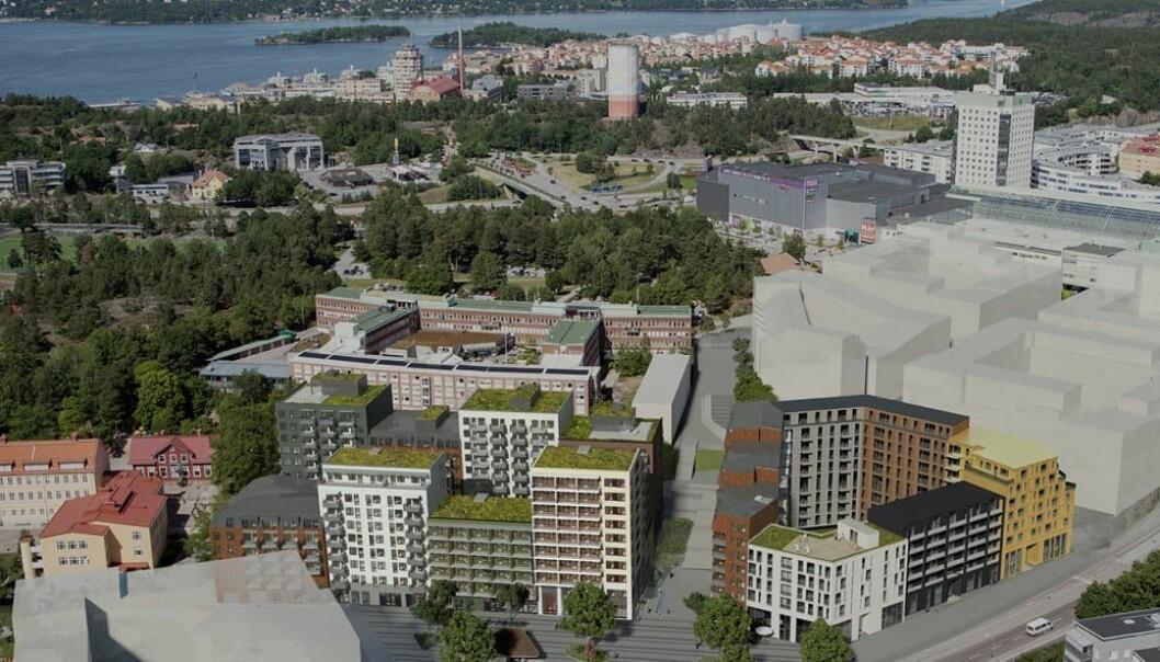 STOR UTVIKLING: Det skal utvikles mange boliger på eiendommen OBOS har kjøpt.