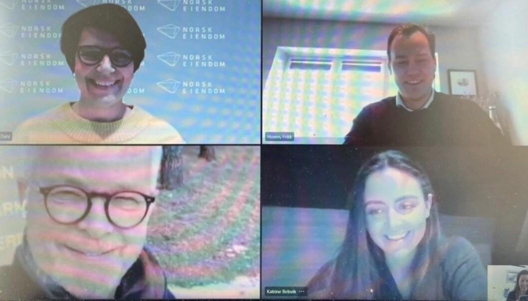 JURYEN: Tone Tellevik Dahl, Fikk Hoven, Gunnar Bøyum, Katrine Belsvik og Carine Bjørvik Andersen (ikke på bildet) er juryen til Cityglød.