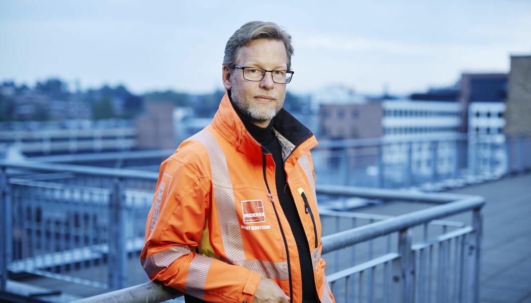 BEDRING: Veidekke-sjef Jimmy Bengtsson melder om bedre tider i entreprenørmarkedet.