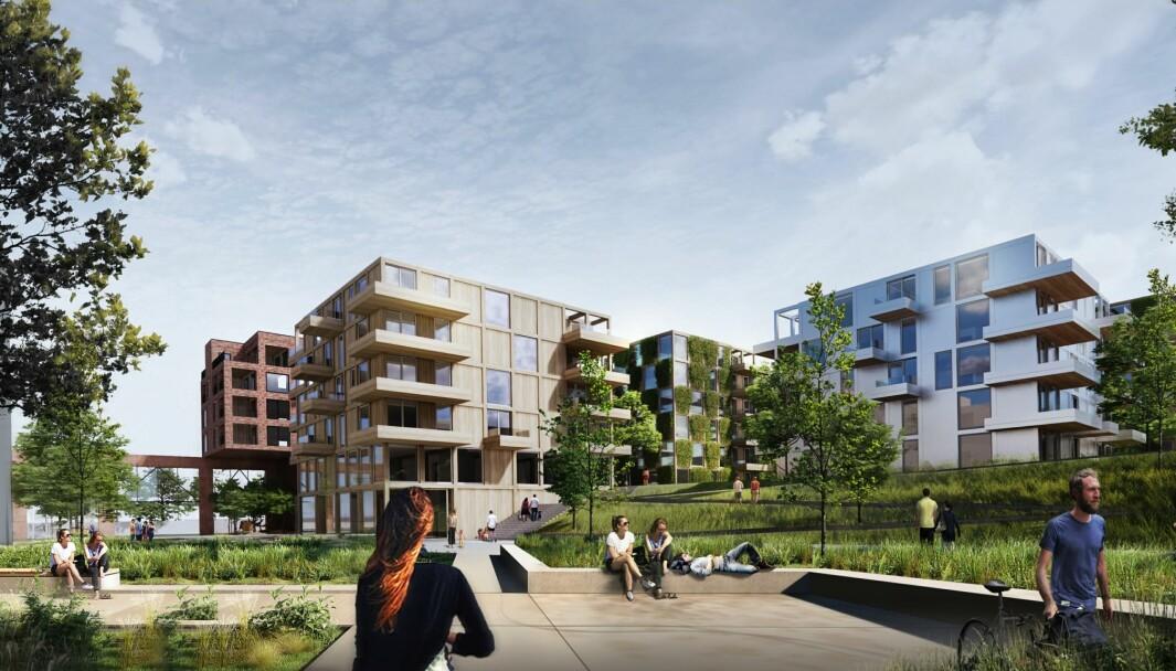 23.197 KVM: Planforslaget har et samlet areal på 23.197 kvadratmeter BRA, inklusive 813 kvadratmeter næring.