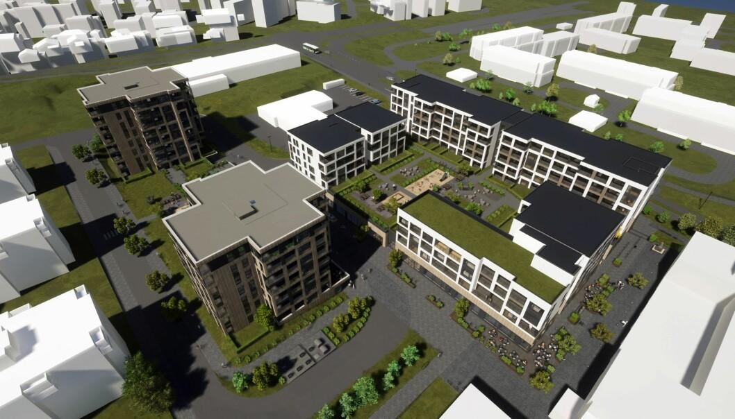 BYMESSIG UTVIKLING: Hensikten med planarbeidet er å tilrettelegge for en etappevis oppgradering og bymessig utvikling av Saupstad Senter.