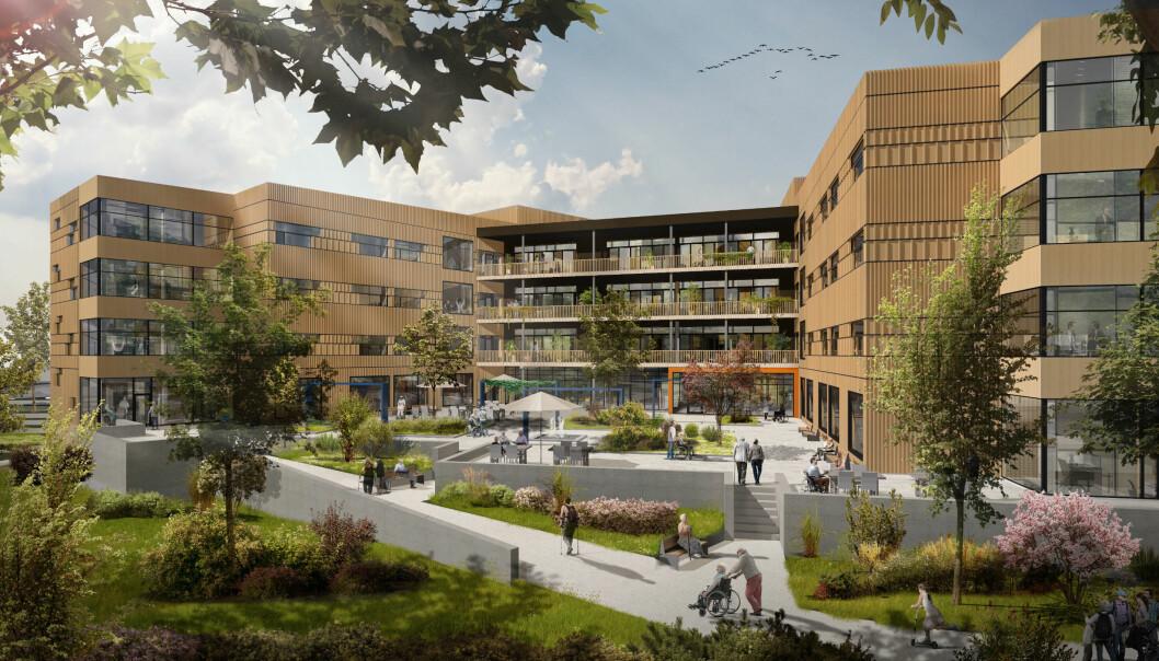 STØRST: Det nye rehabiliteringssenteret omfatter ca 10 000 m2 over fire etasjer.