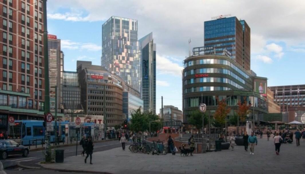 FØYER SEG INN: Ifølge Riksantikvaren vil det nye bygget føye seg inn i det etablerte bygningsmiljøet og de etablerte byggehøyder i området.